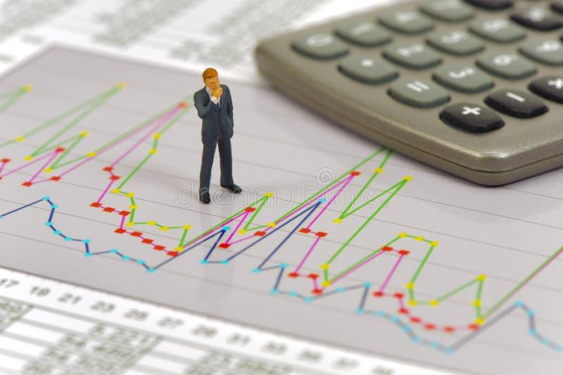 财务和预算演算 免版税库存图片