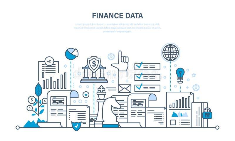 财务和统计数字,付款,企业规划,投资安全  皇族释放例证