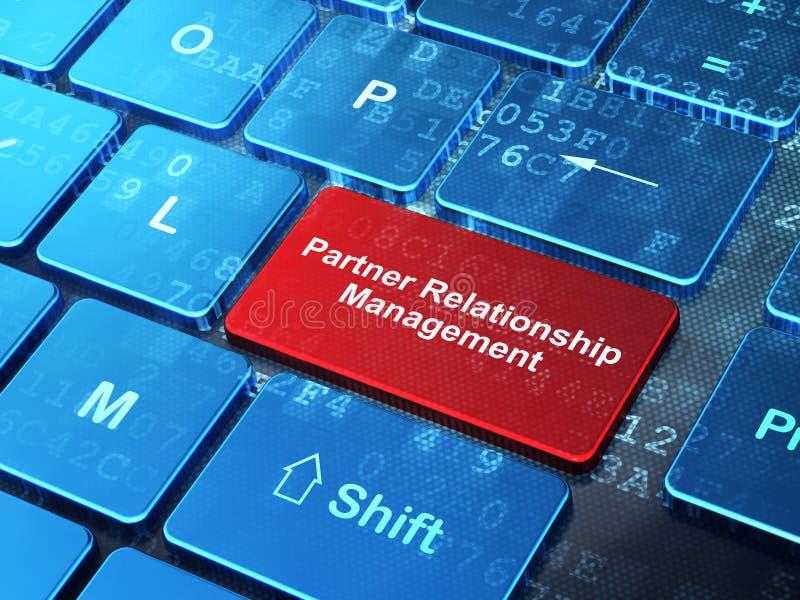 财务概念:伙伴在键盘背景的关系管理 库存照片