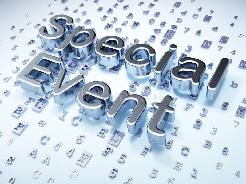 财务概念:在数字式银色特殊事件的时刻 库存例证