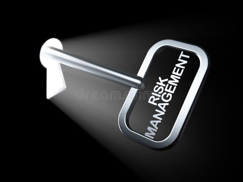 财务概念:在钥匙的风险管理 库存图片