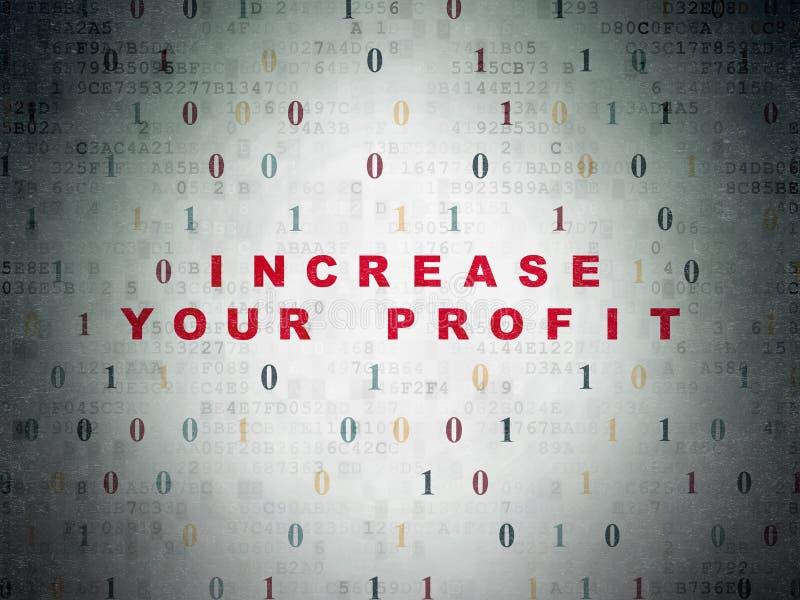 财务概念:增加您的在数字式赢利 免版税图库摄影