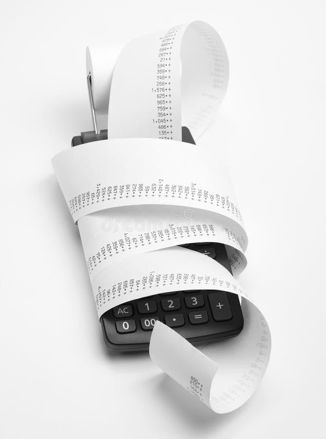 财务演算 免版税库存图片