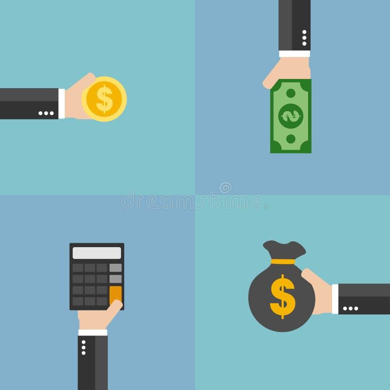 财务管理平的设计集合 库存例证