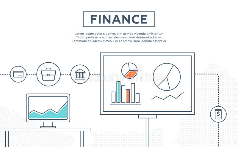 财务,人群资助,生长营业利润的概念 库存例证