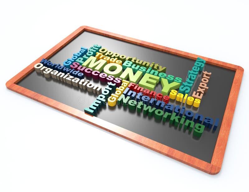 财务,金钱, succes词概念 向量例证