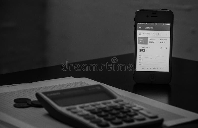 财务逻辑分析方法 免版税库存图片