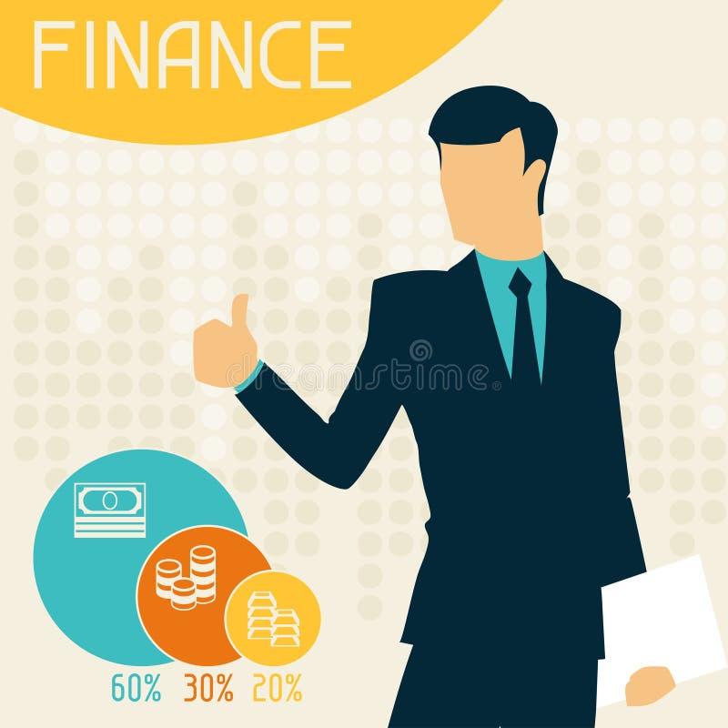 财务infographics 皇族释放例证