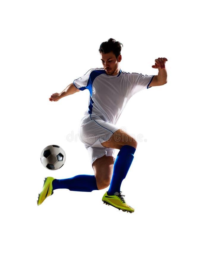 活动充分isloted照片球员足球工作室 图库摄影