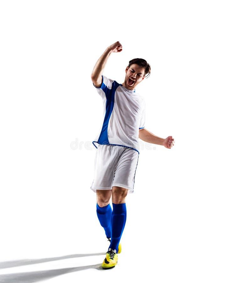 活动充分isloted照片球员足球工作室 免版税图库摄影