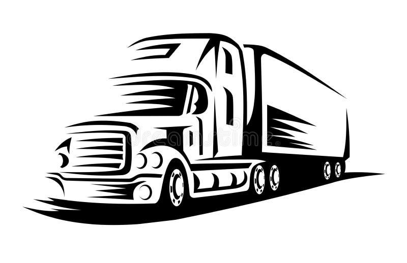 移动卡车 皇族释放例证