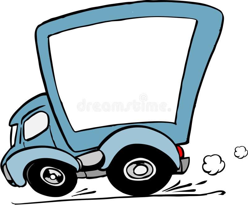 移动卡车 向量例证