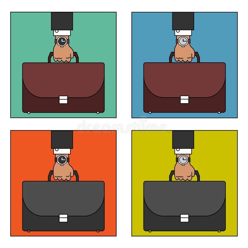 5 8活动商业结束的日绿色时数开张红色时间工作 免版税库存照片