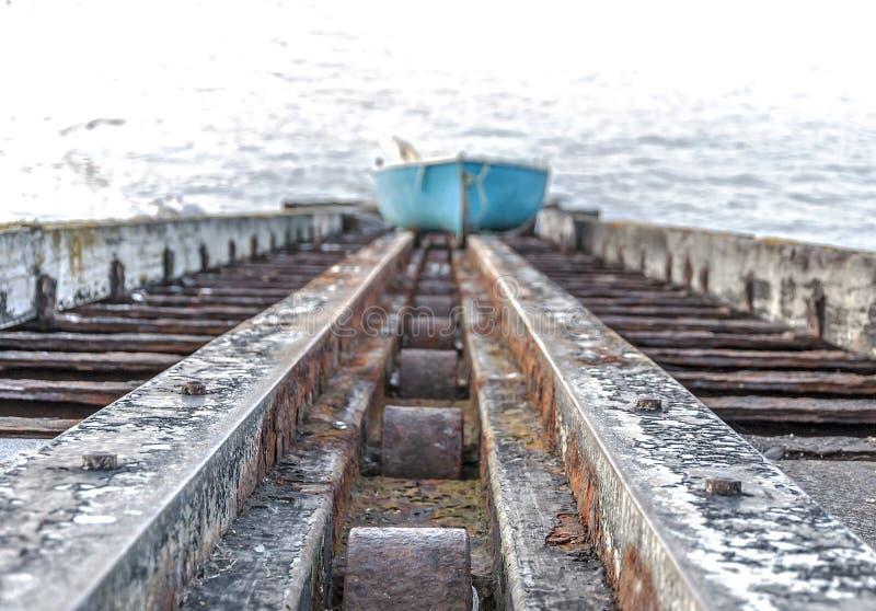 滑动式造船架 免版税图库摄影