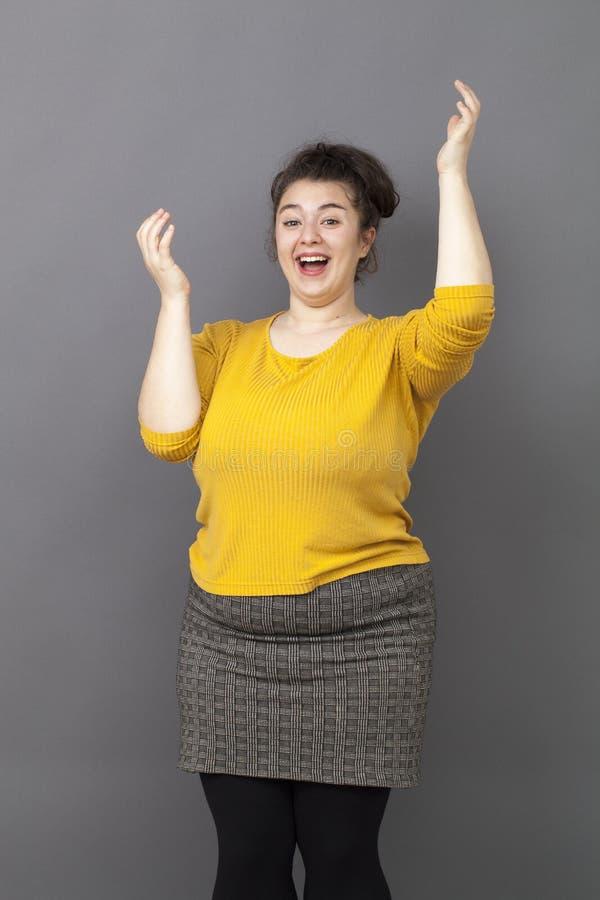 动态加上开心的大小妇女与福利 库存照片