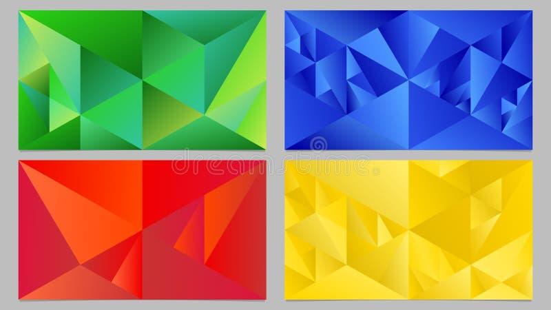 动态抽象几何梯度三角桌面背景集合 库存例证