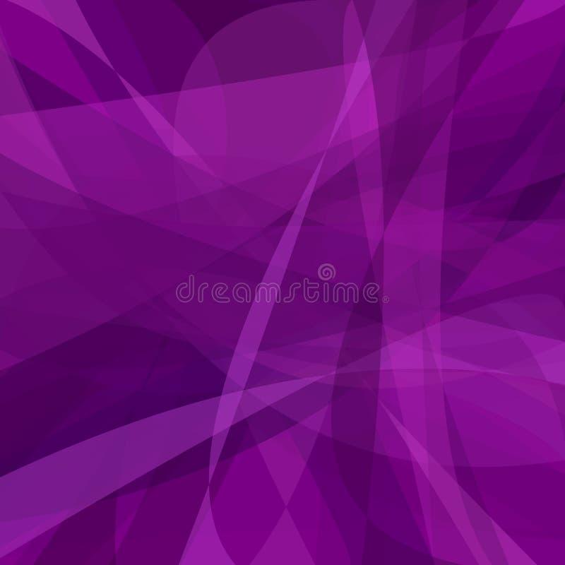 从动态曲线的紫色抽象背景 皇族释放例证