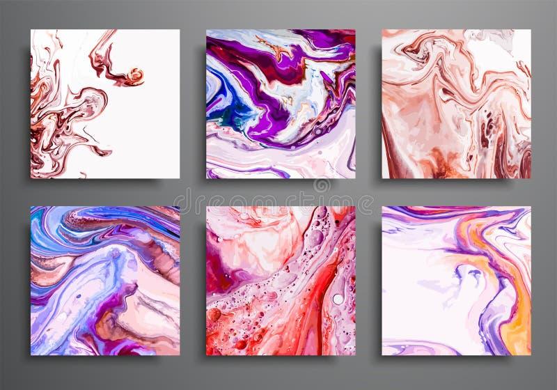 动态的背景 时髦招贴,被设置的商务盖子 大理石五颜六色的作用 编目的,哥斯达黎加抽象页海报模板 向量例证
