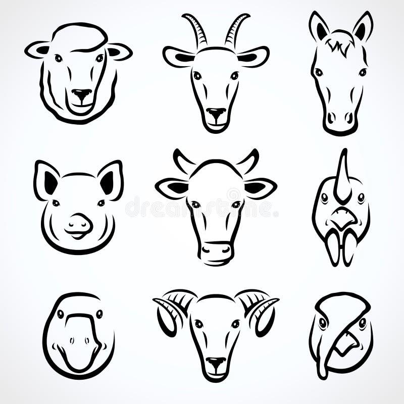 动物农场集 向量 皇族释放例证