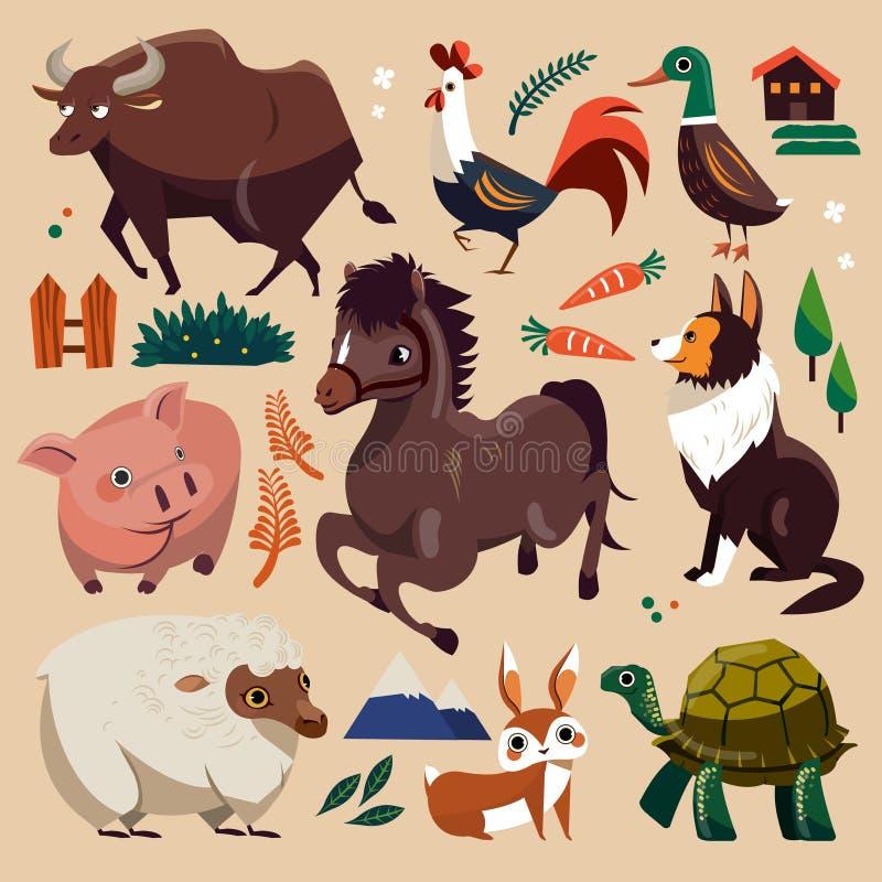 动物农场集 库存例证