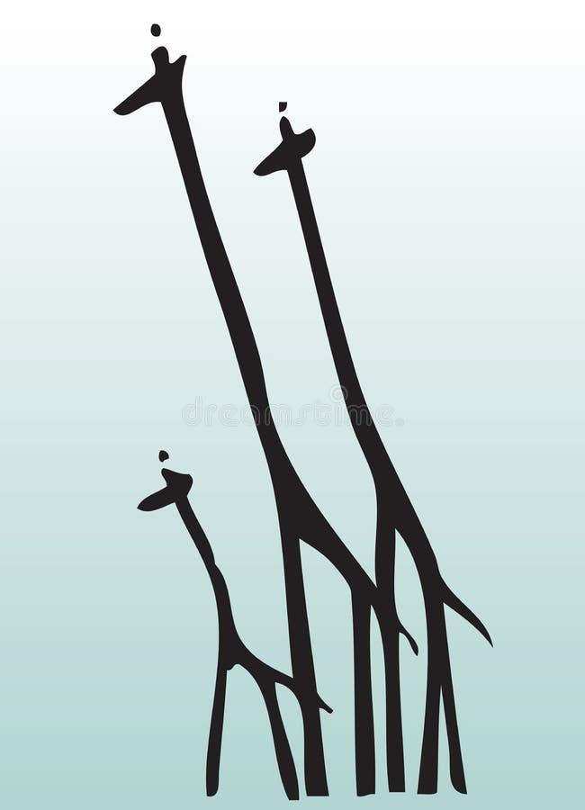 动物凹道长颈鹿现有量 皇族释放例证
