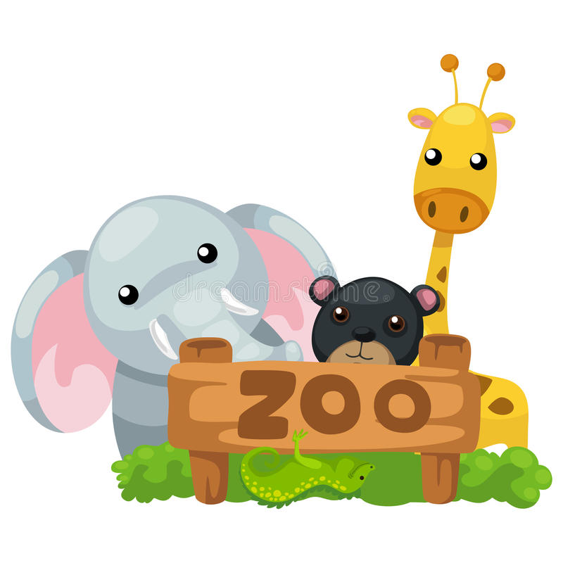 动物动物园传染媒介 皇族释放例证