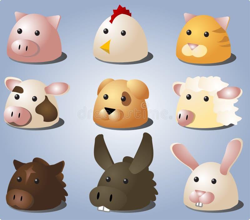 动物动画片 皇族释放例证