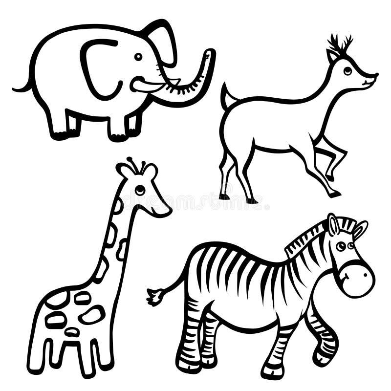 动物动画片 向量例证