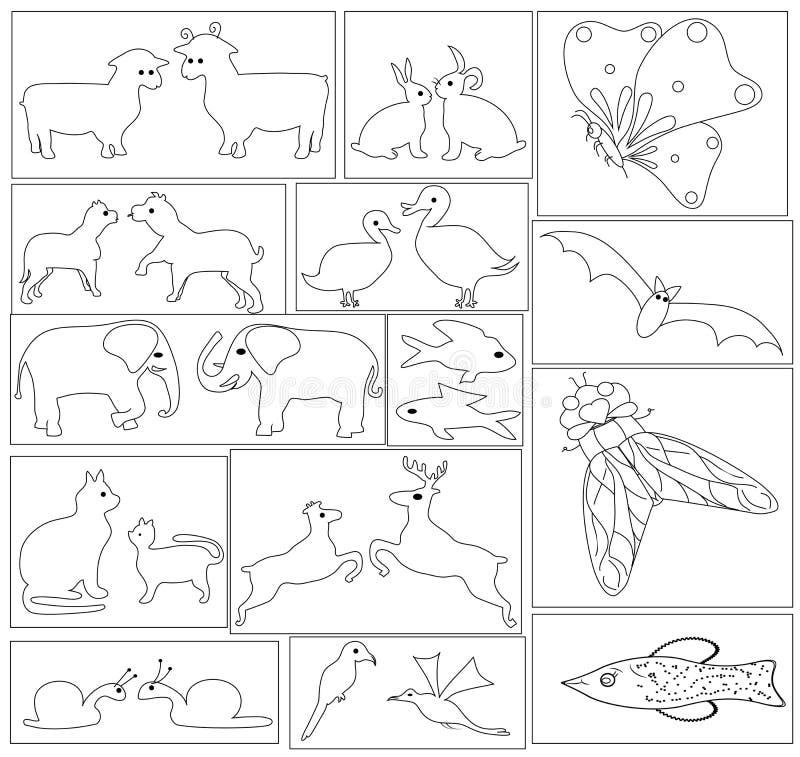 动物和昆虫 皇族释放例证