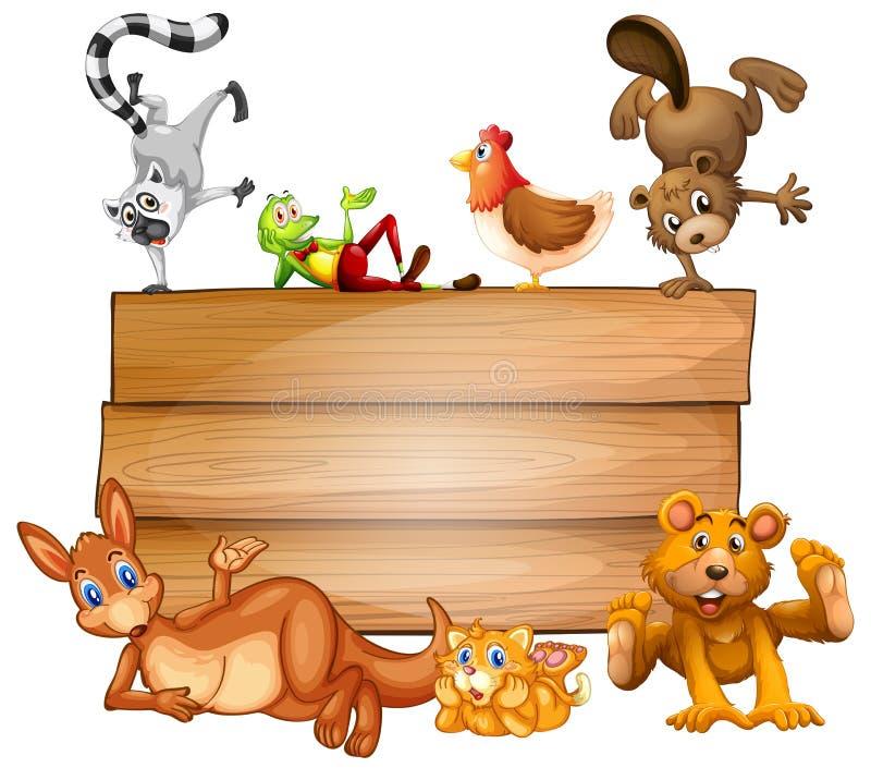 动物和标志 向量例证