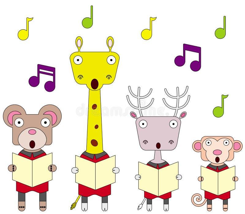 动物唱诗班 向量例证