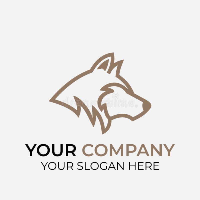 动物商标设计 库存例证
