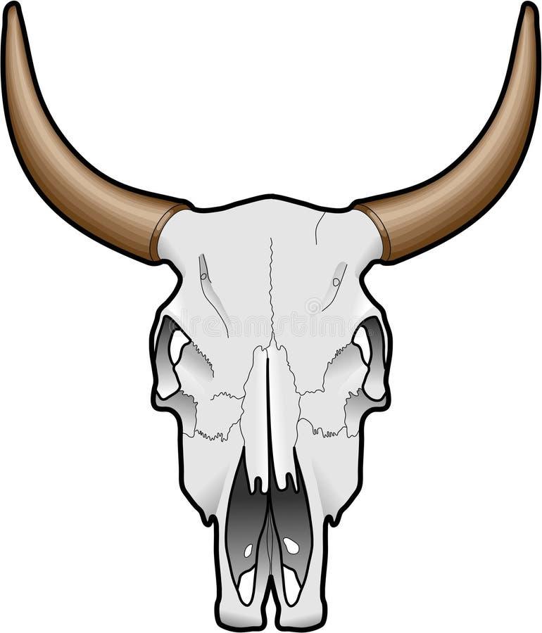动物头骨 库存例证