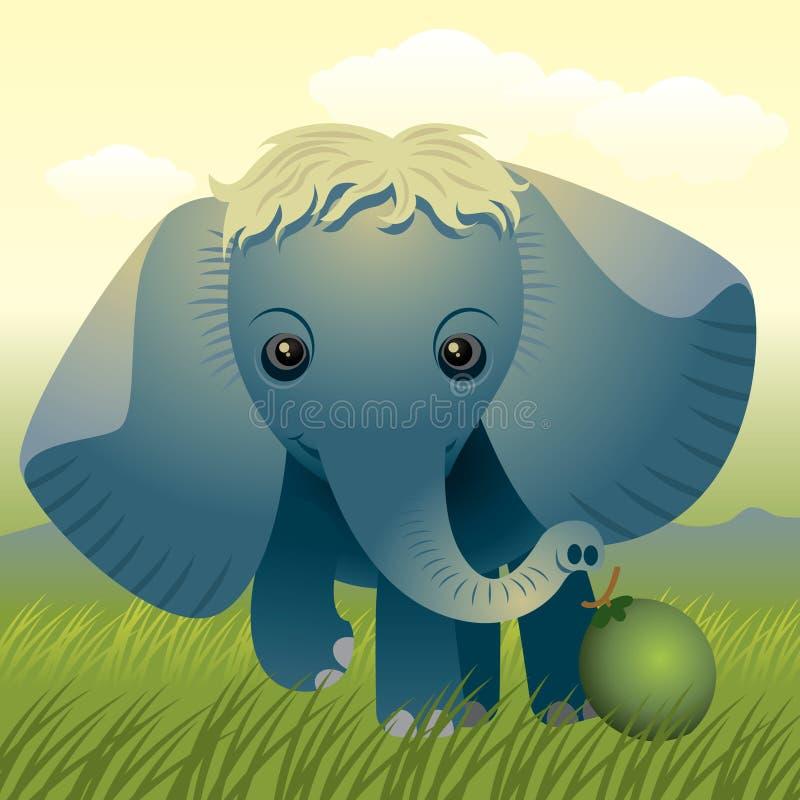 动物婴孩收集大象 皇族释放例证