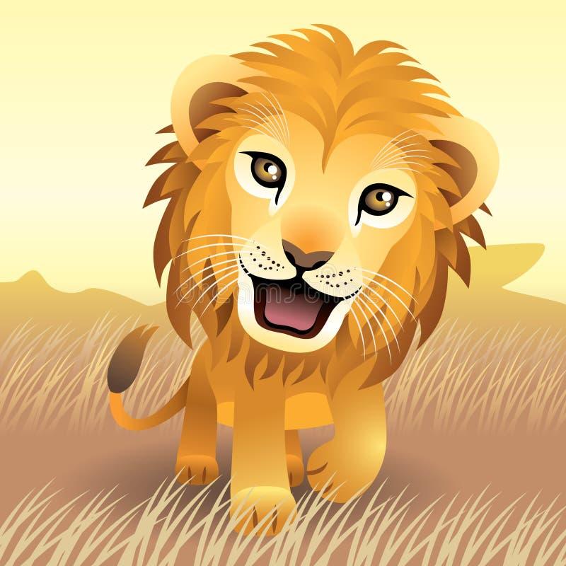 动物婴孩收集狮子 皇族释放例证