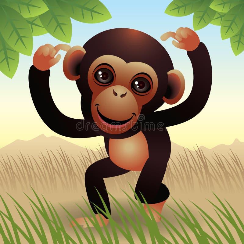 动物婴孩收集猴子 向量例证