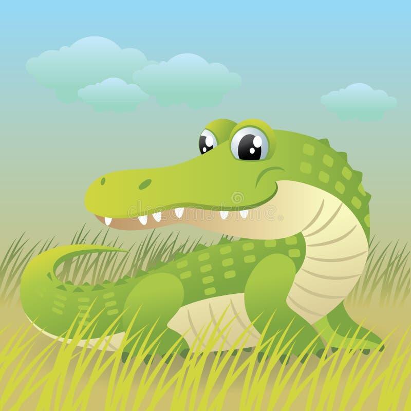 动物婴孩收集鳄鱼 库存例证