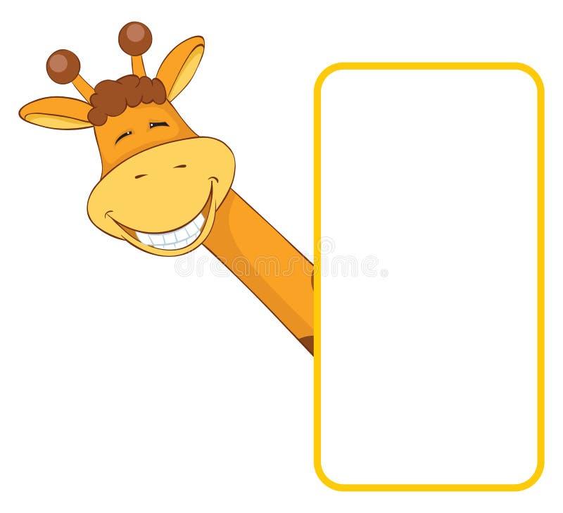 动物婴孩横幅长颈鹿 皇族释放例证