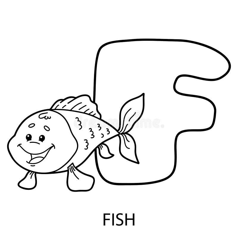 动物字母表卡片 库存例证