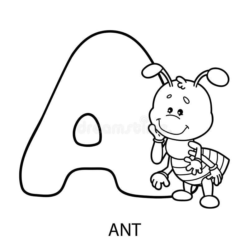 动物字母表卡片 向量例证