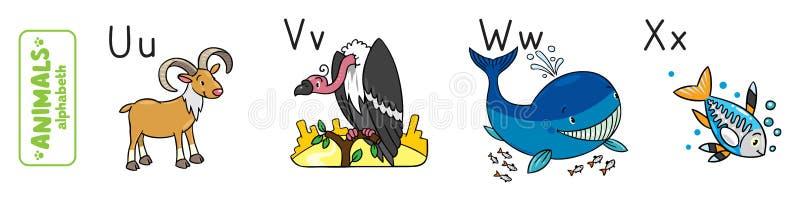 动物字母表或ABC 库存例证