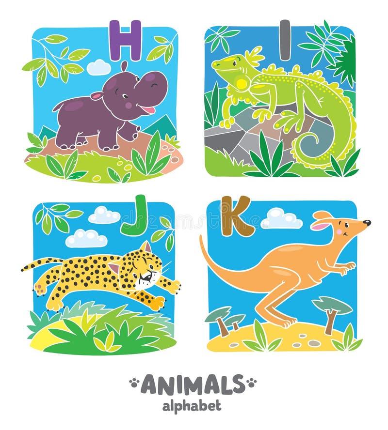 动物字母表或ABC 向量例证