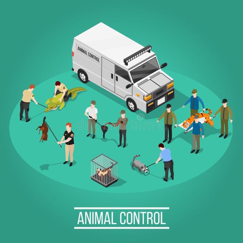 动物控制等量构成 库存例证