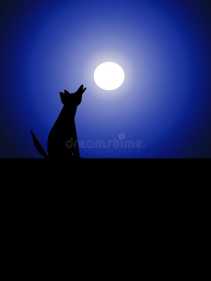 动物月亮 向量例证