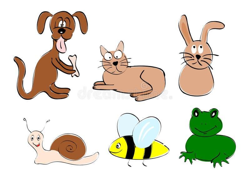 动物朋友 免版税库存图片