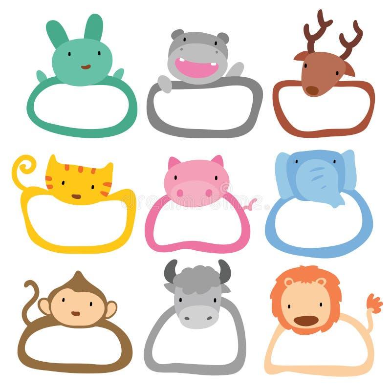 动物框架设计 库存例证