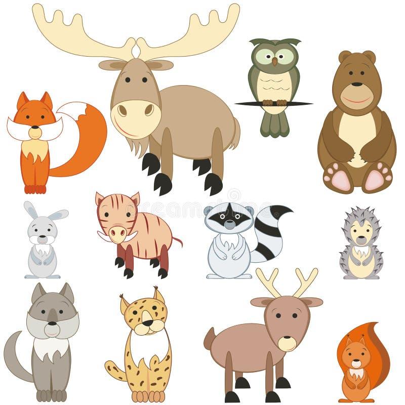 动物森林 向量例证