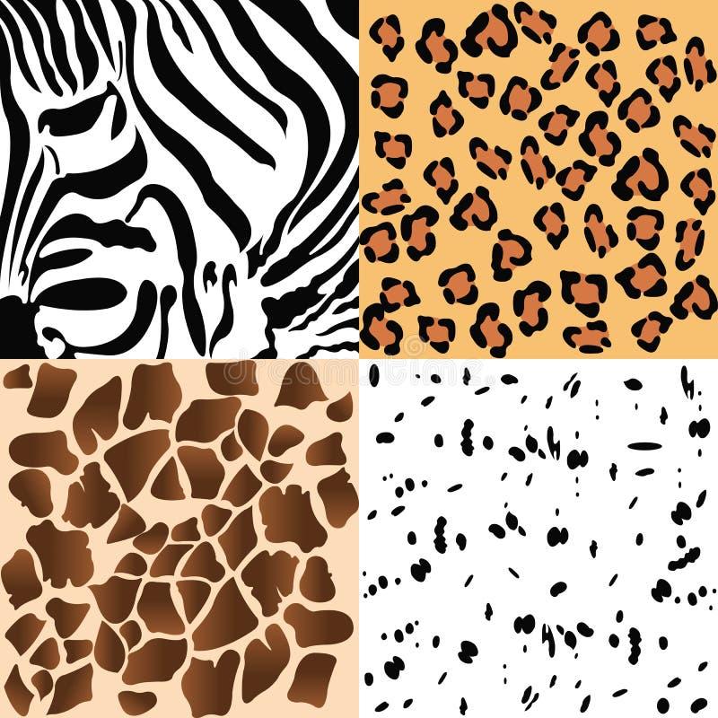 动物模式 库存例证