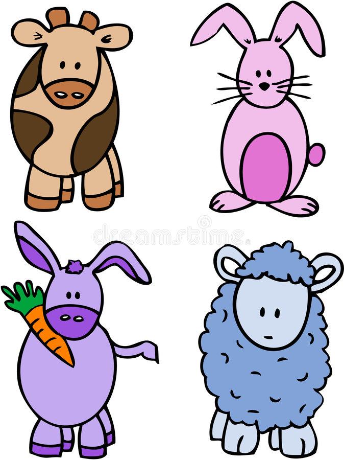动物漫画人物 图库摄影
