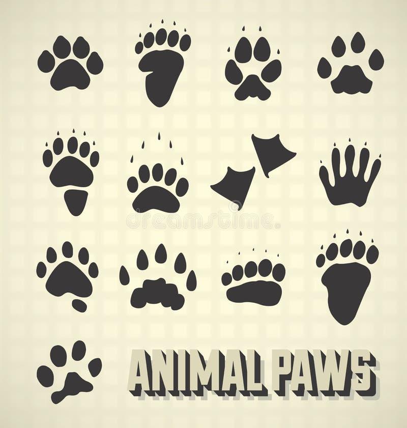 动物爪子印刷品 库存例证